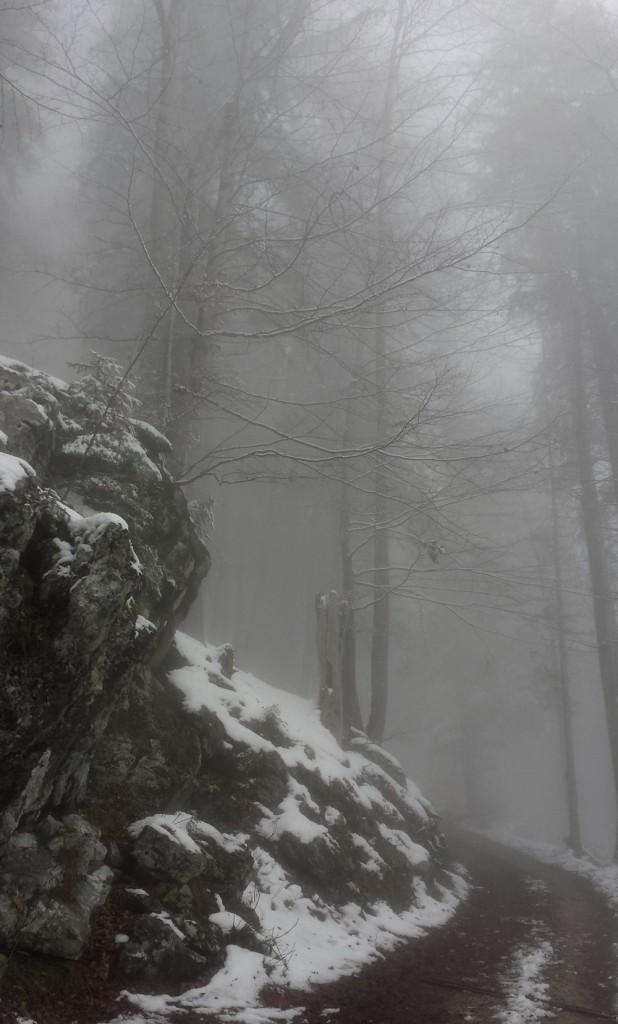 Wanderung auf die Naunspitze durch dichten Nebel