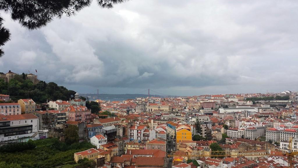 Aussicht vom Miradouro da Graca in Lissabon