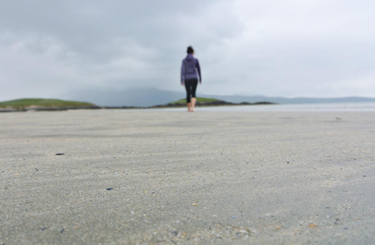 Suche nach einer Frau in Irland
