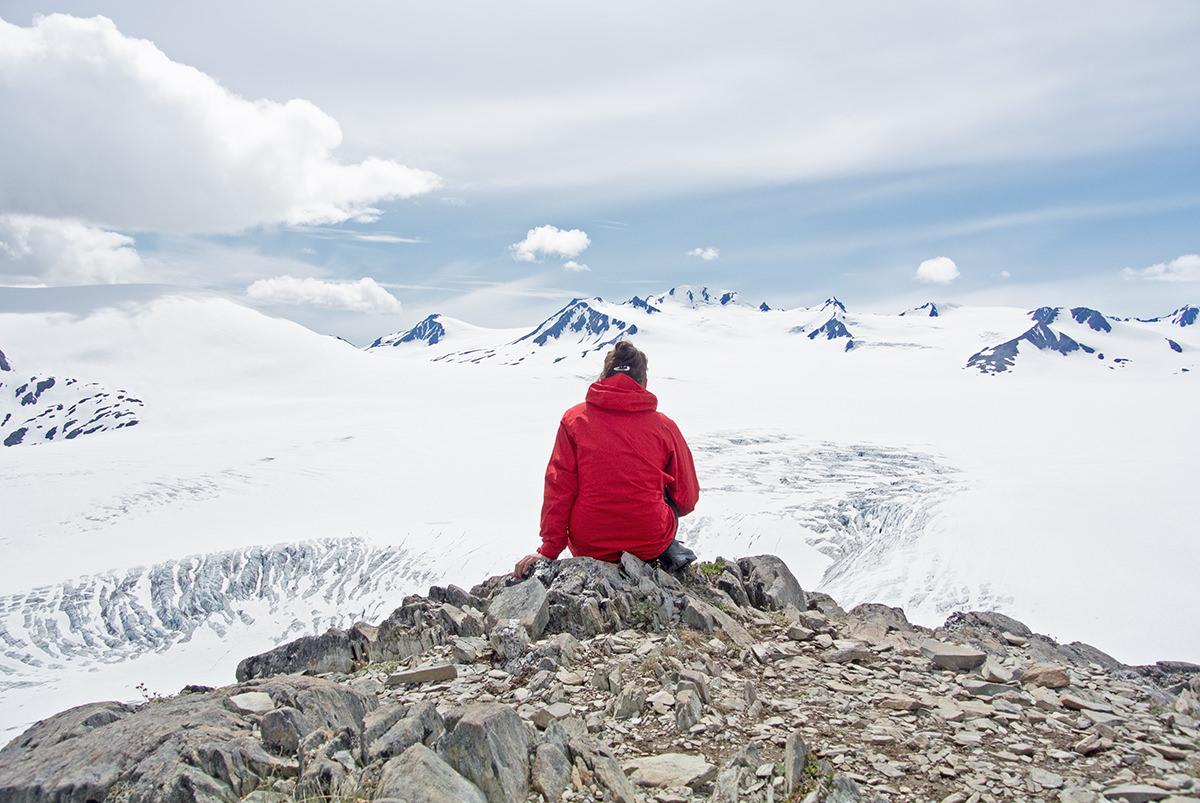 Am Rande des Harding Icefield