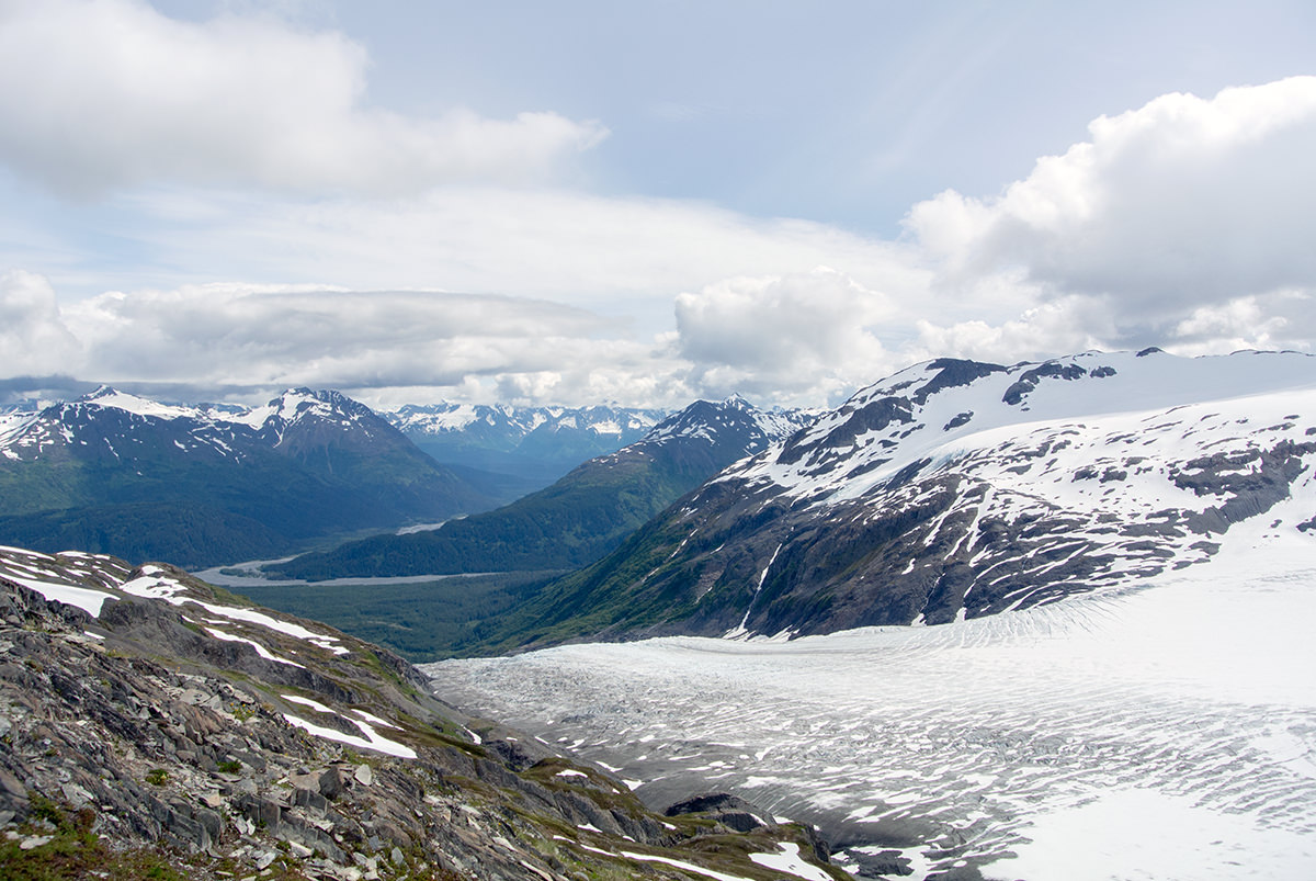 Der Exit Glacier von oben