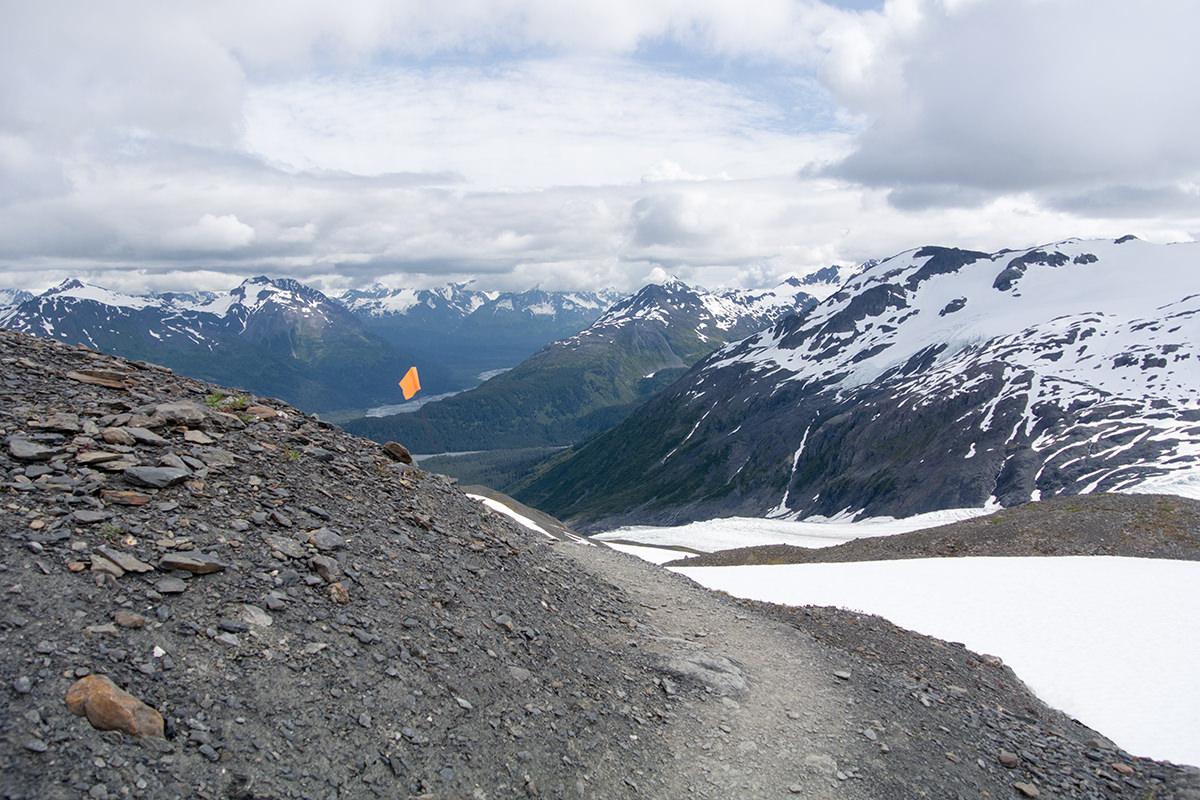 Abstieg auf dem Harding Icefield Trail