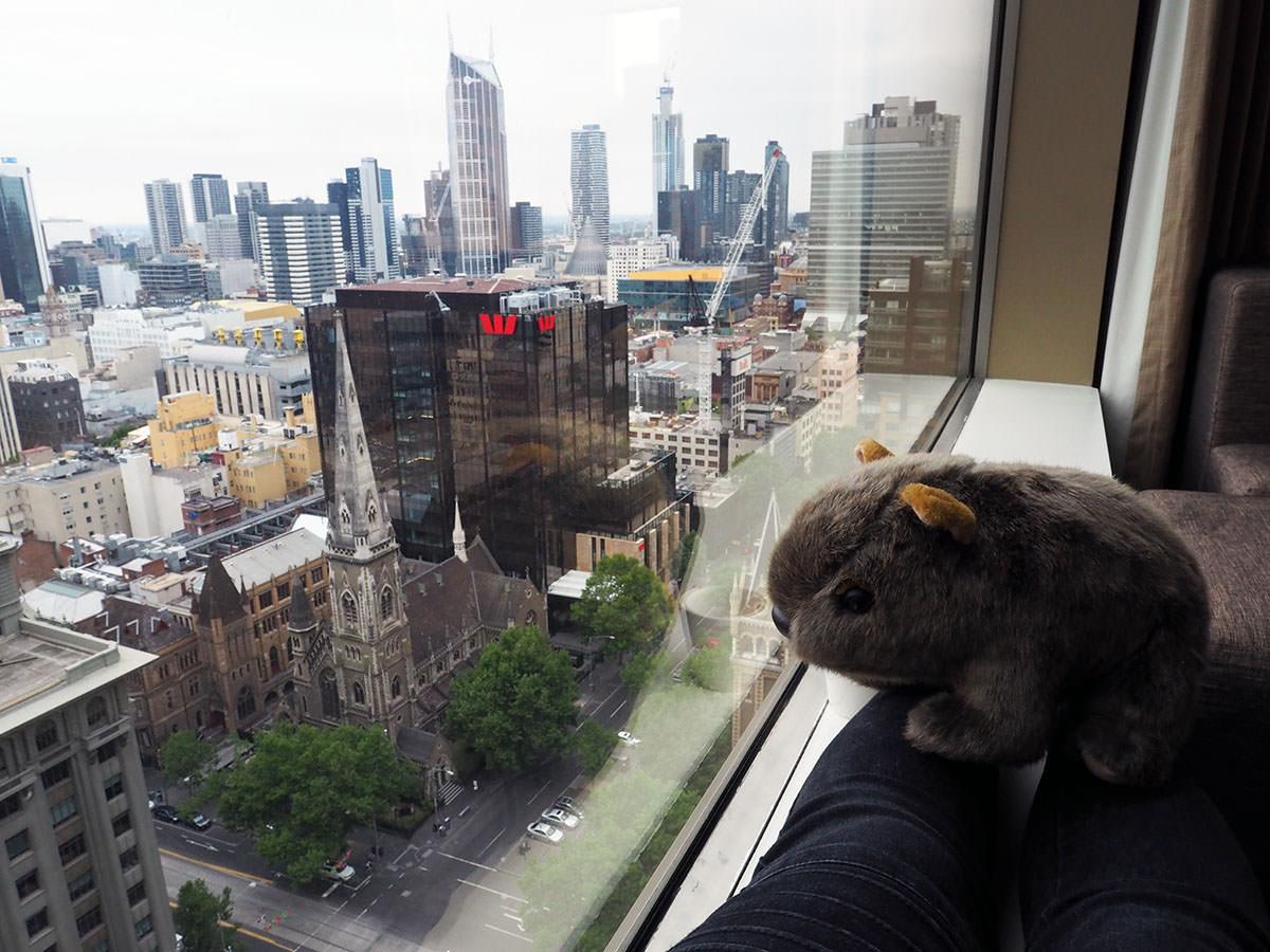 Blick über Melbourne vom Grand Hyatt Hotel