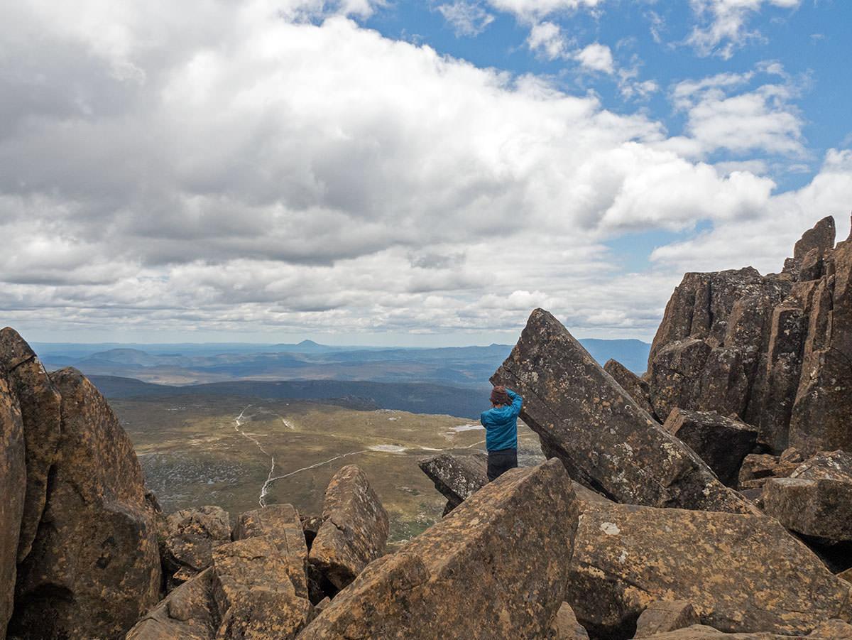 Blick vom Cradle Mountain auf den Nationalpark