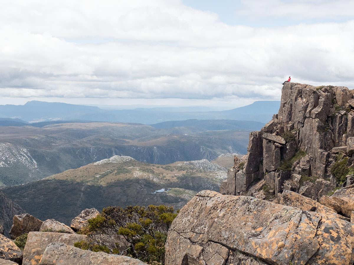 Auf dem Gipfel des Cradle Mountain