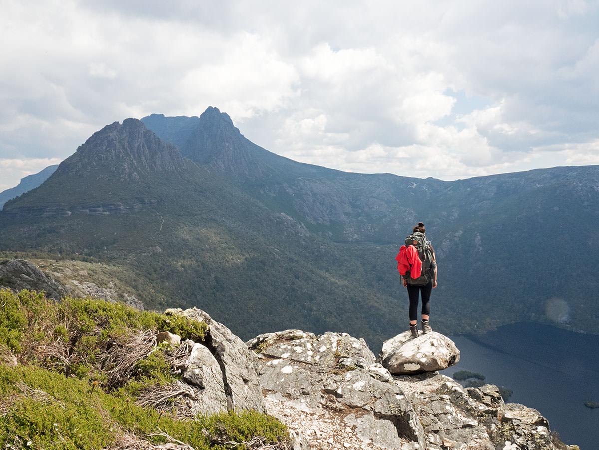 Auf dem Gipfel des Hanson Peak