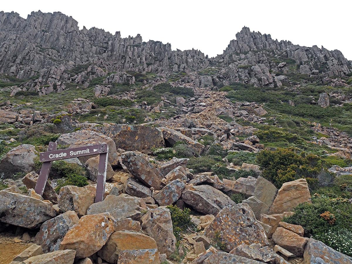 Start der Wanderung auf den Cradle Mountain