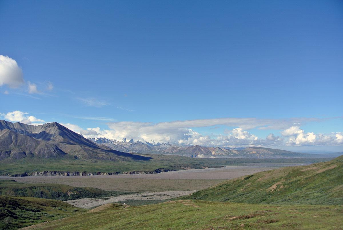 Ausblick auf die Alaska Range