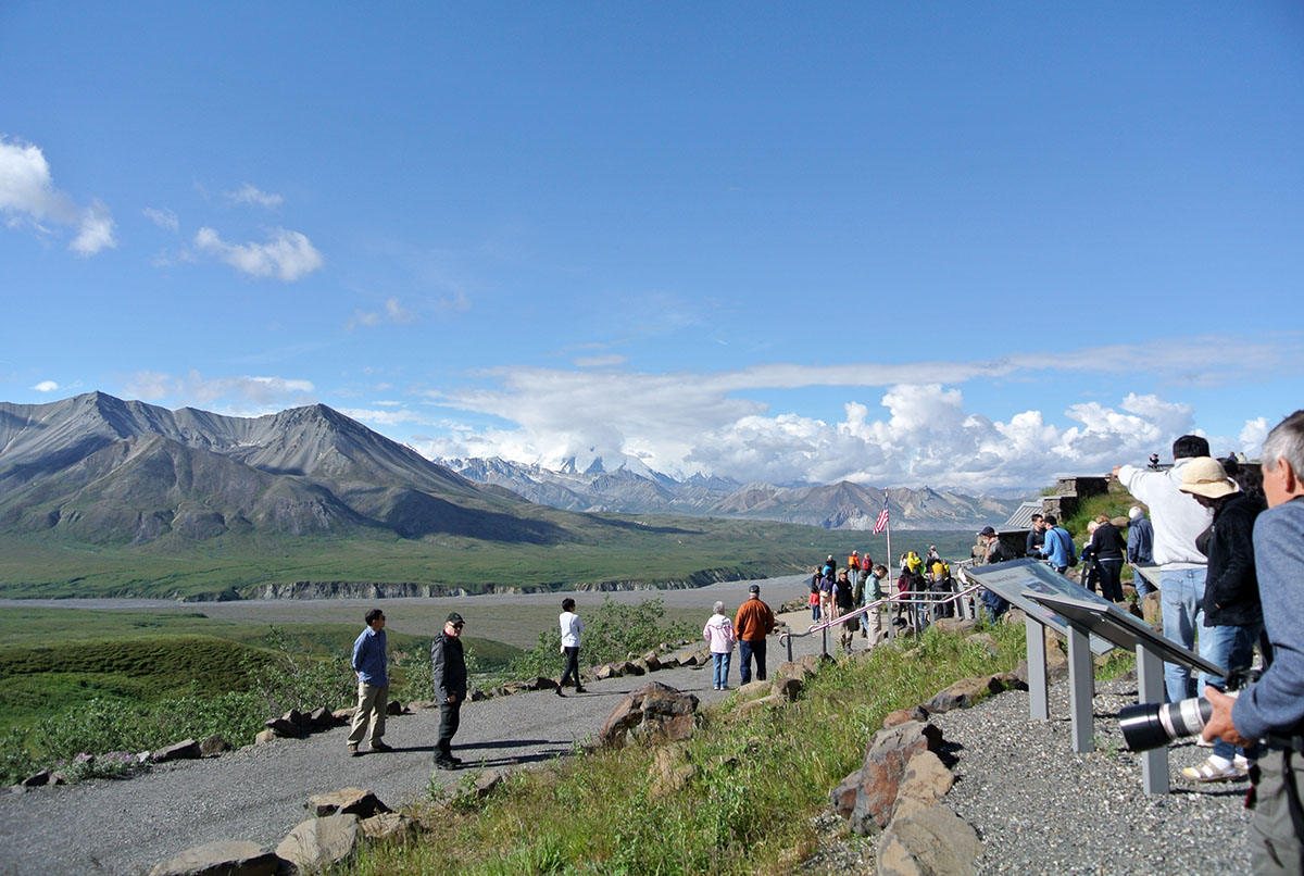 Am Eielson Besucherzentrum im Denali Nationalpark