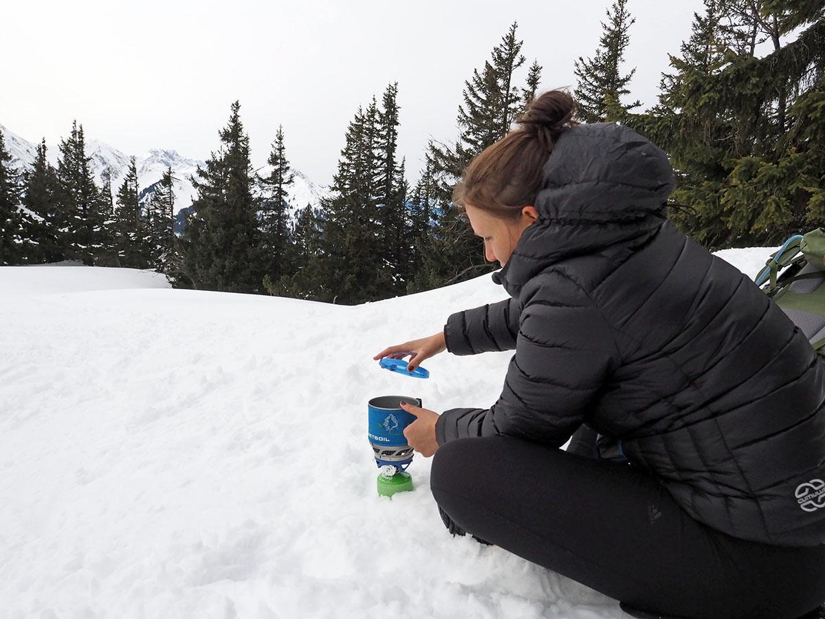 Der MiniMo von Jetboil im Winter