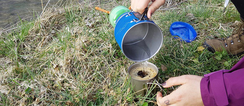 Kaffeekochen mit dem Jetboil MiniMo