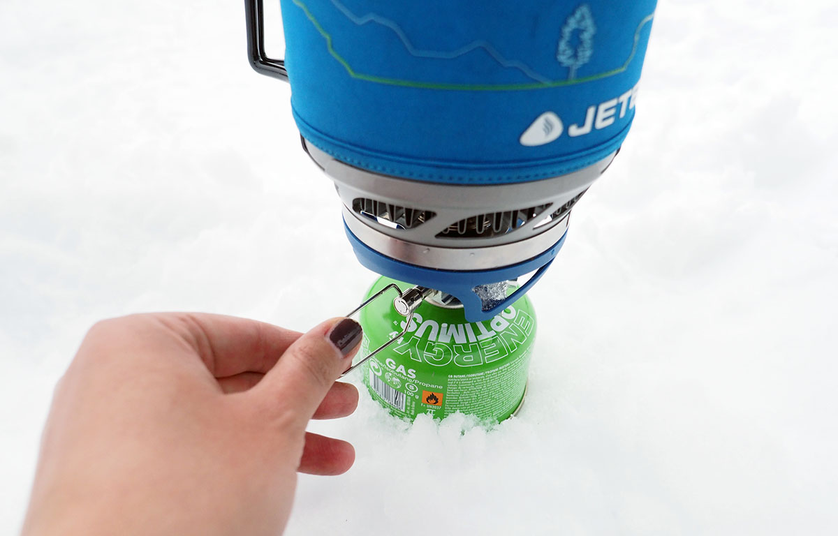 Der Jetboil MiniMo ist stufenlos regulierbar