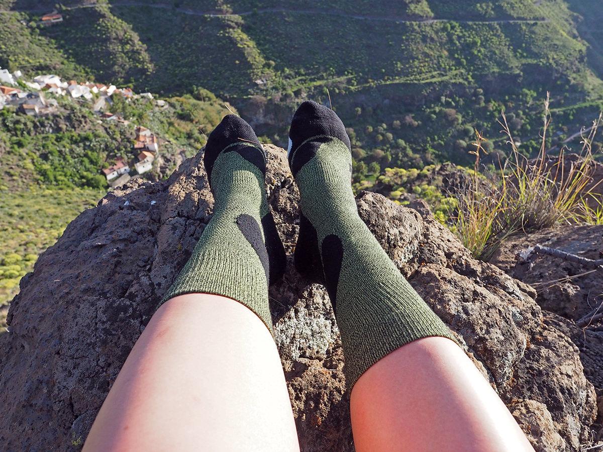 Outdoor Merino Mid-Cut Socks von CEP beim Wandern