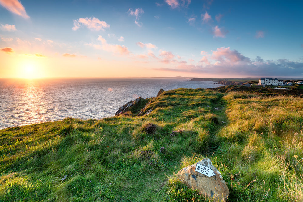 South West Coast Path in Cornwall