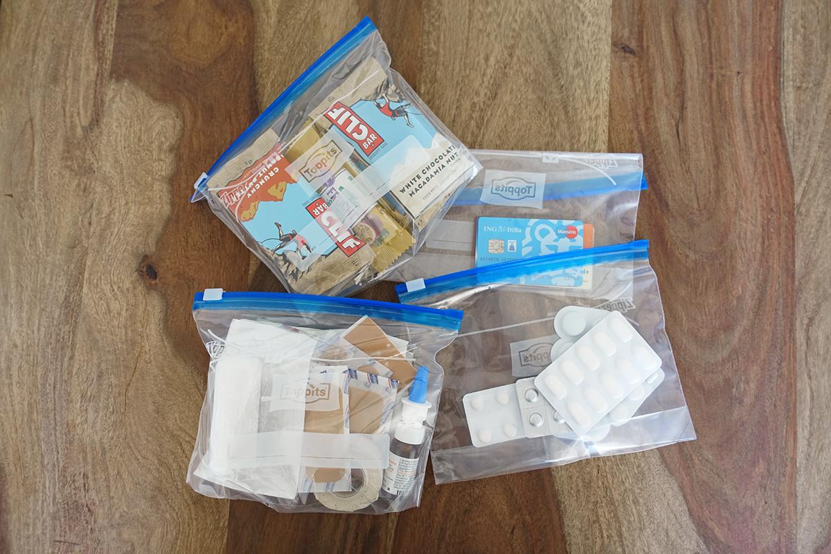 Ziplock-Bags eigenen sich perfekt als Packbeutel