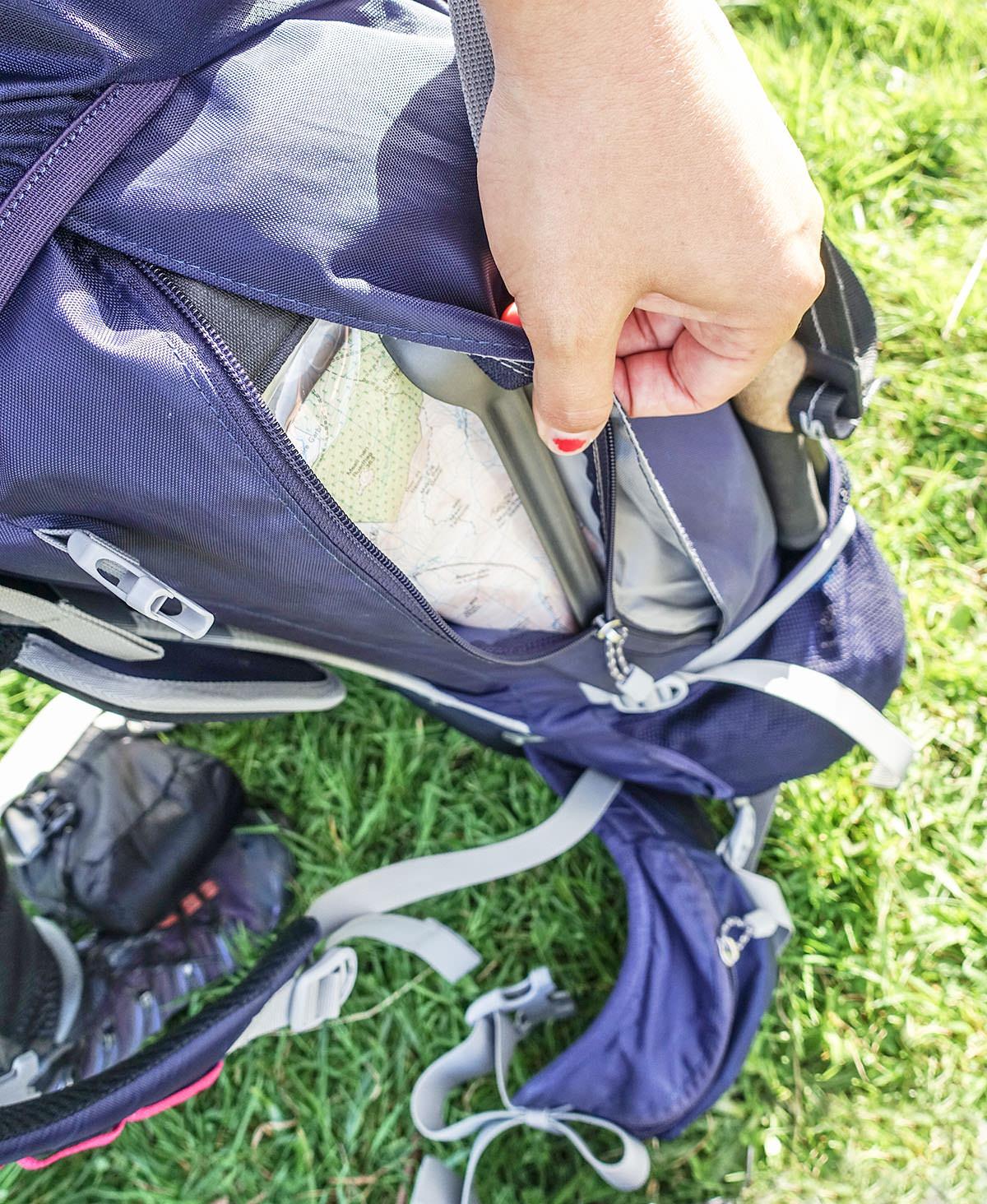 Seitentaschen des Berghaus Wilderness 60+15