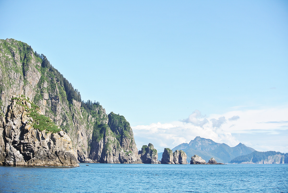 Felsen im Kenai Fjord