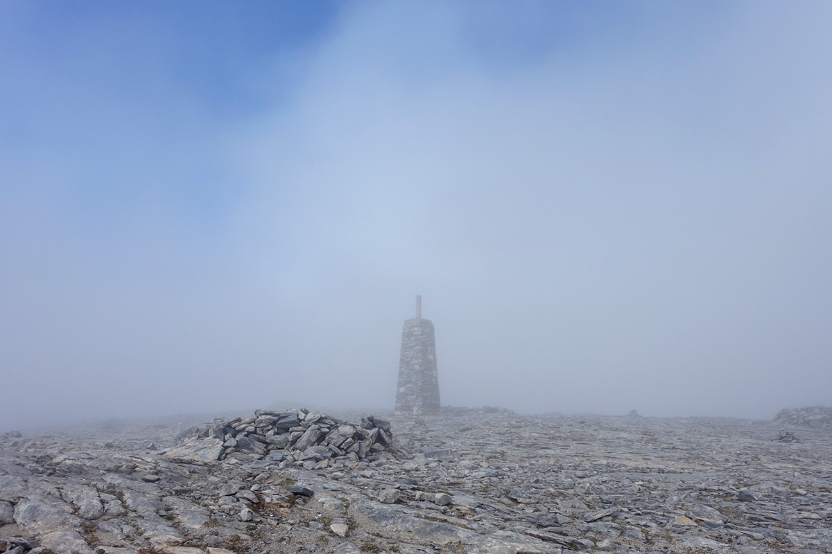 Der Gipfel der La Maroma Wanderung