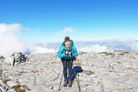 Auf dem Gipfel des La Maroma in Andalusien
