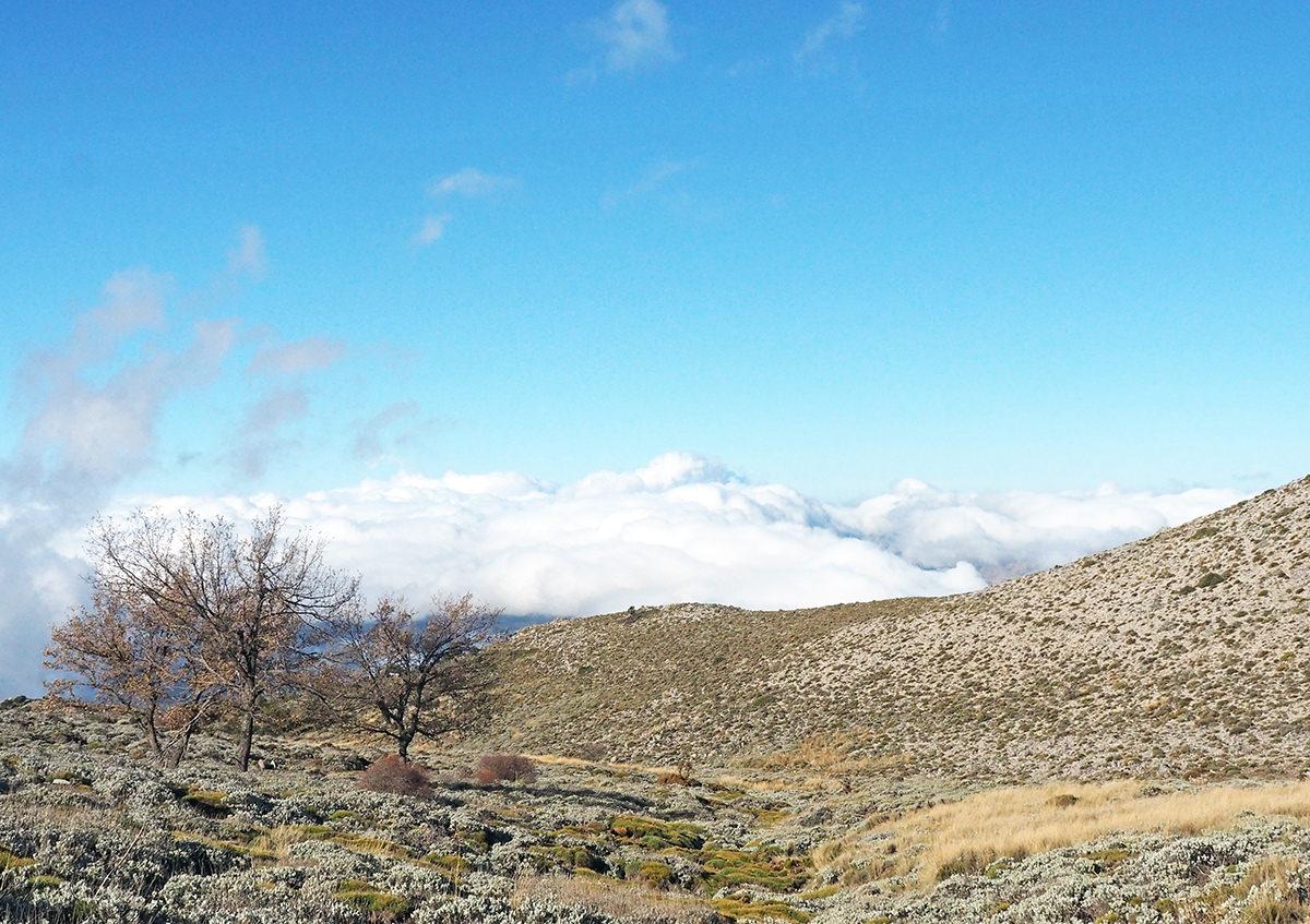 La Maroma Wanderung im Winter