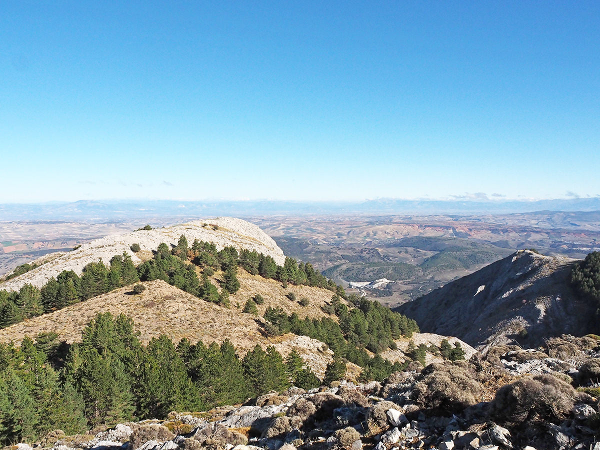 Blick auf die Sierra Nevada vom La Maroma aus