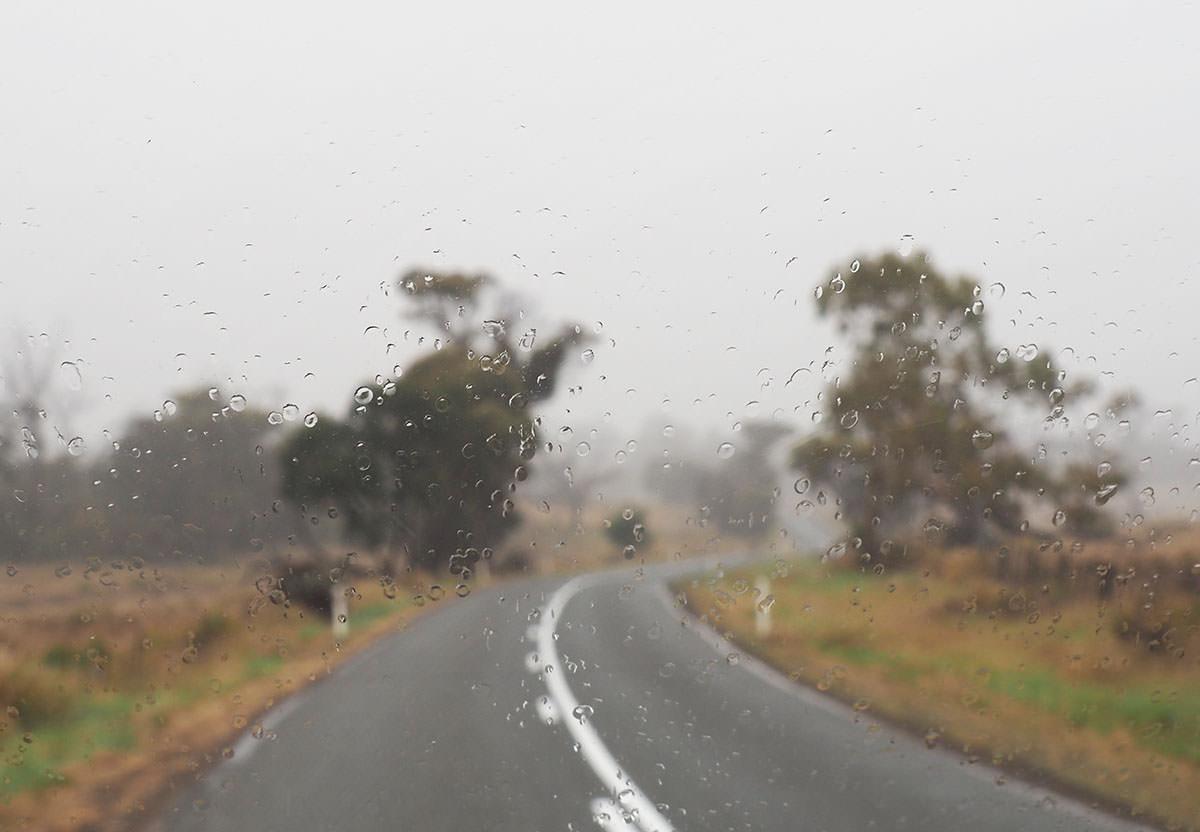 Regen auf Tasmanien