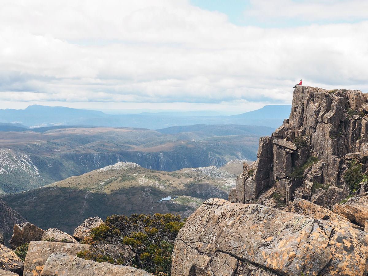 Auf dem Gipfel des Cradle Mountain auf Tasmanien