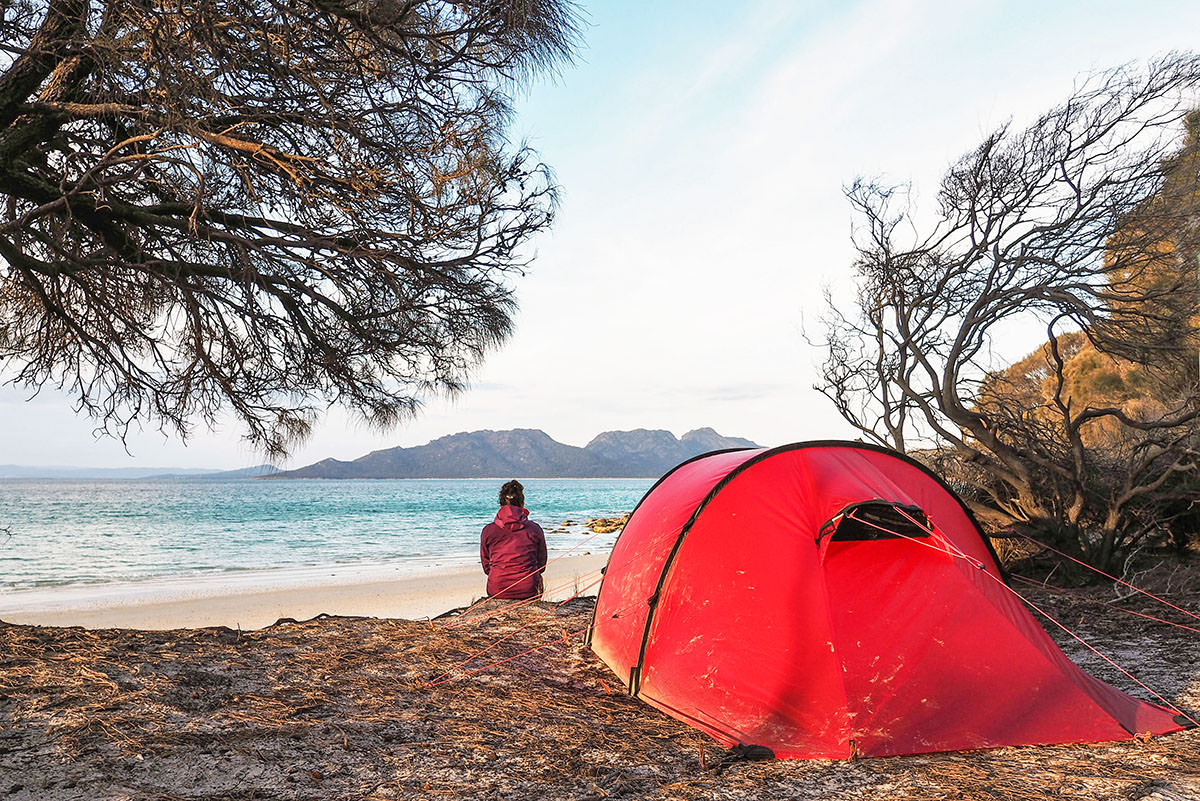 Campen im Freycinet Nationalpark auf Tasmanien
