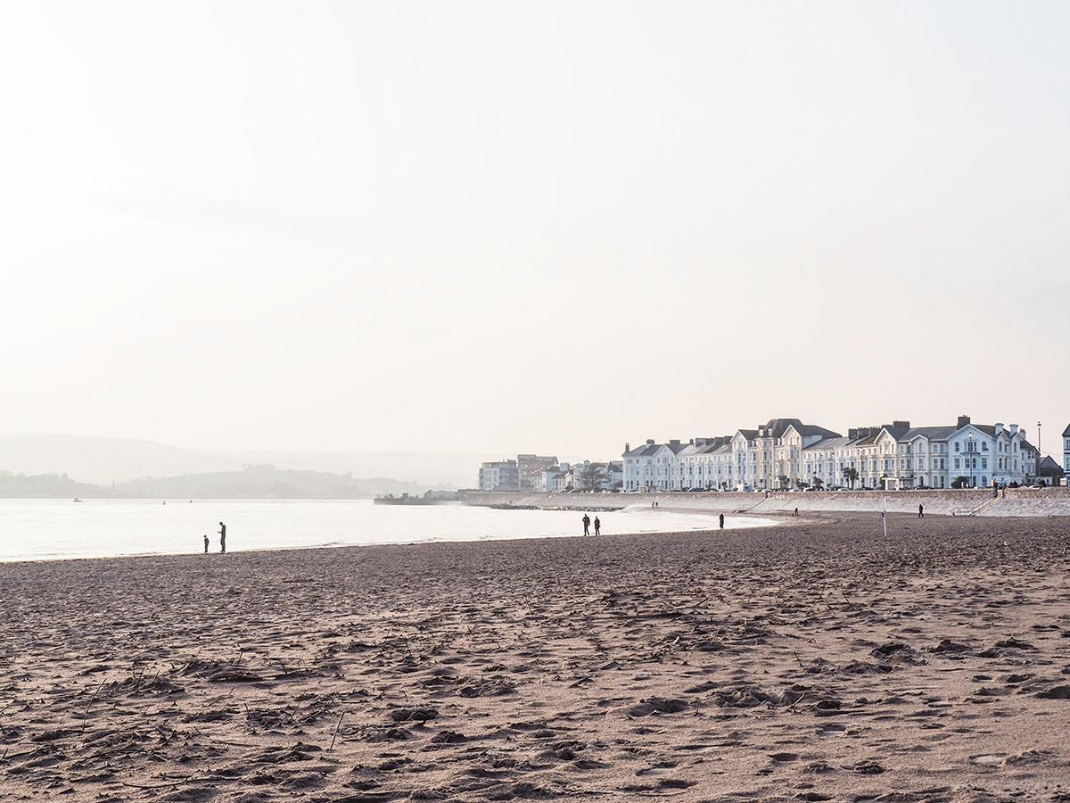 Der Sandstrand von Exmouth