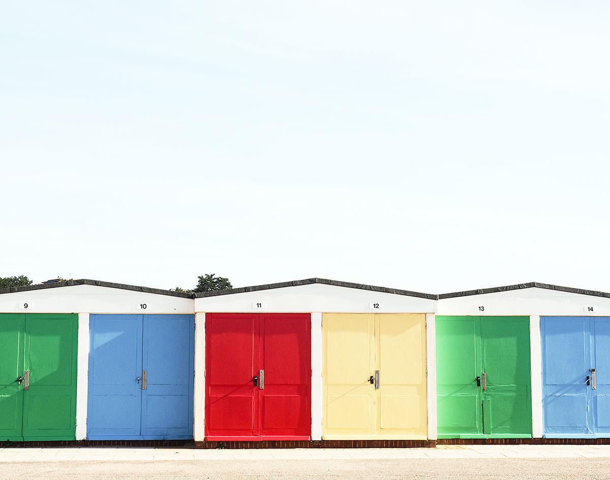 Strandhütten in Südengland
