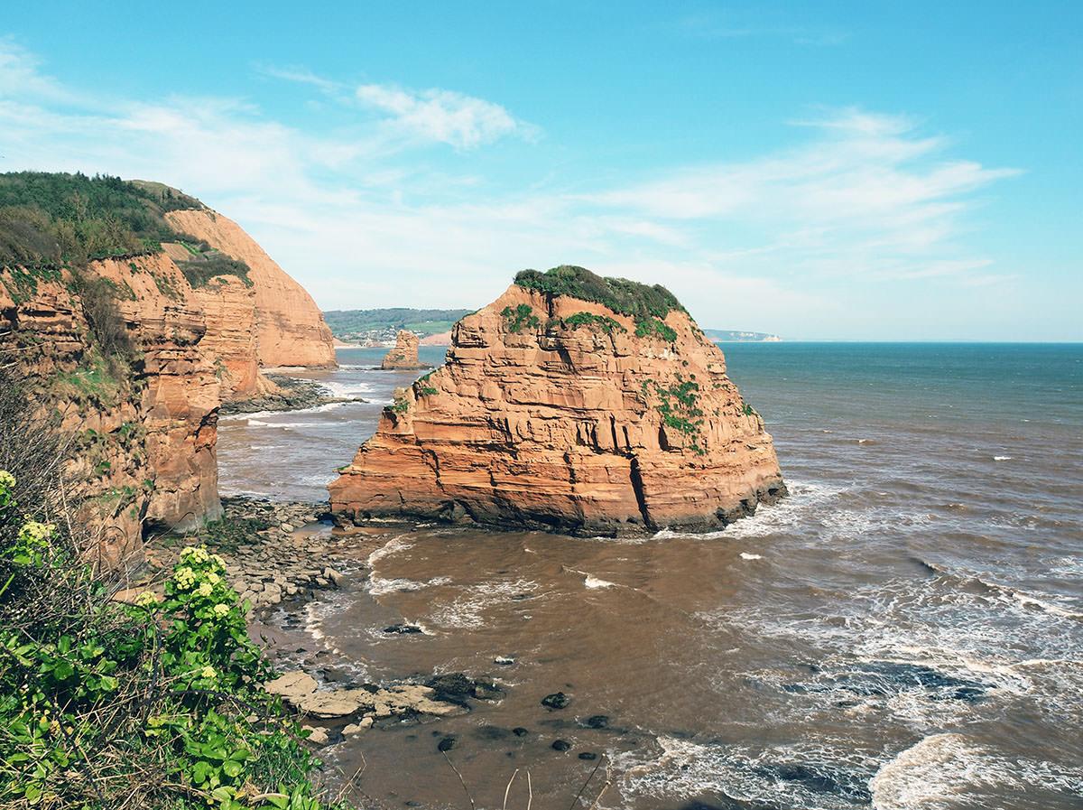 """Die """"rote Küste"""" an der Jurassic Coast"""