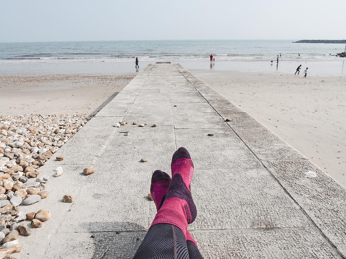 Am Strand von Lyme Regis