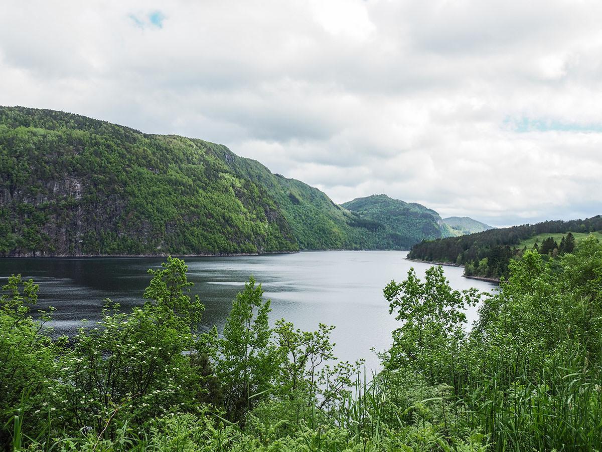 Fjord in Südnorwegen