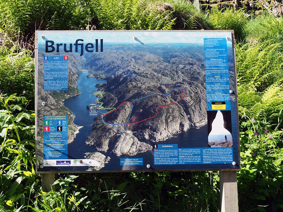 Brufjell Wanderung