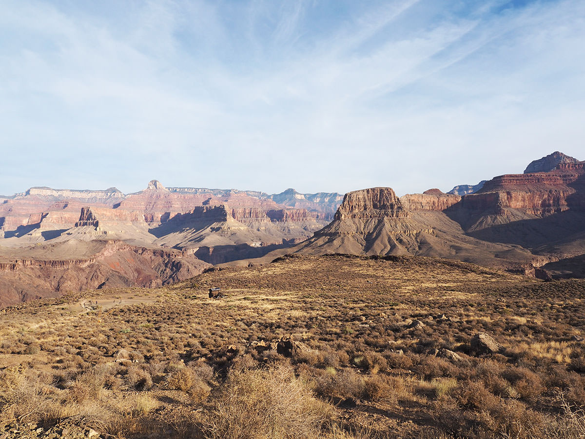 auf dem south kaibab trail zum colorado river und wieder hoch