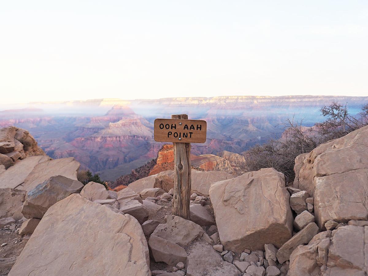 aussichtspunkt im grand canyon