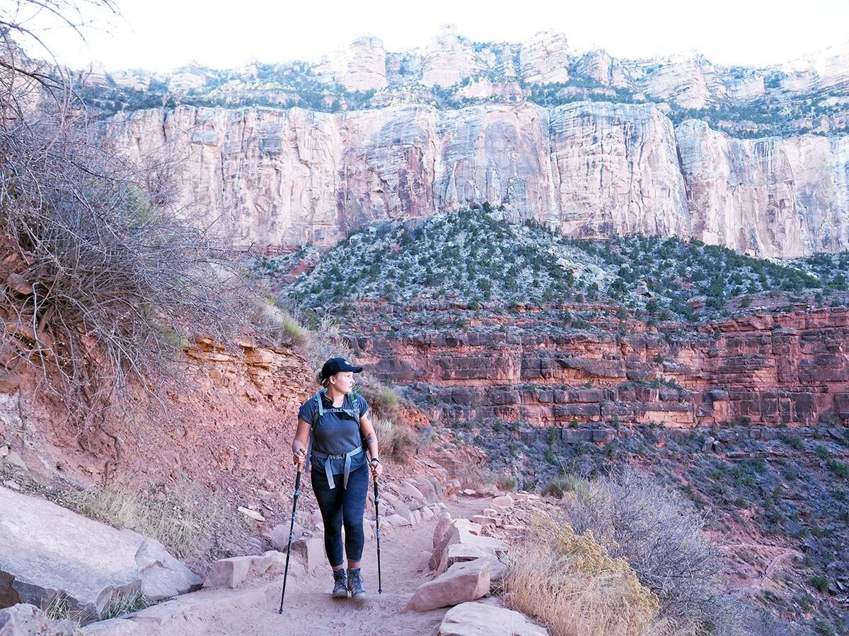Tageswanderung auf dem Bright Angel Trail im Grand Canyon