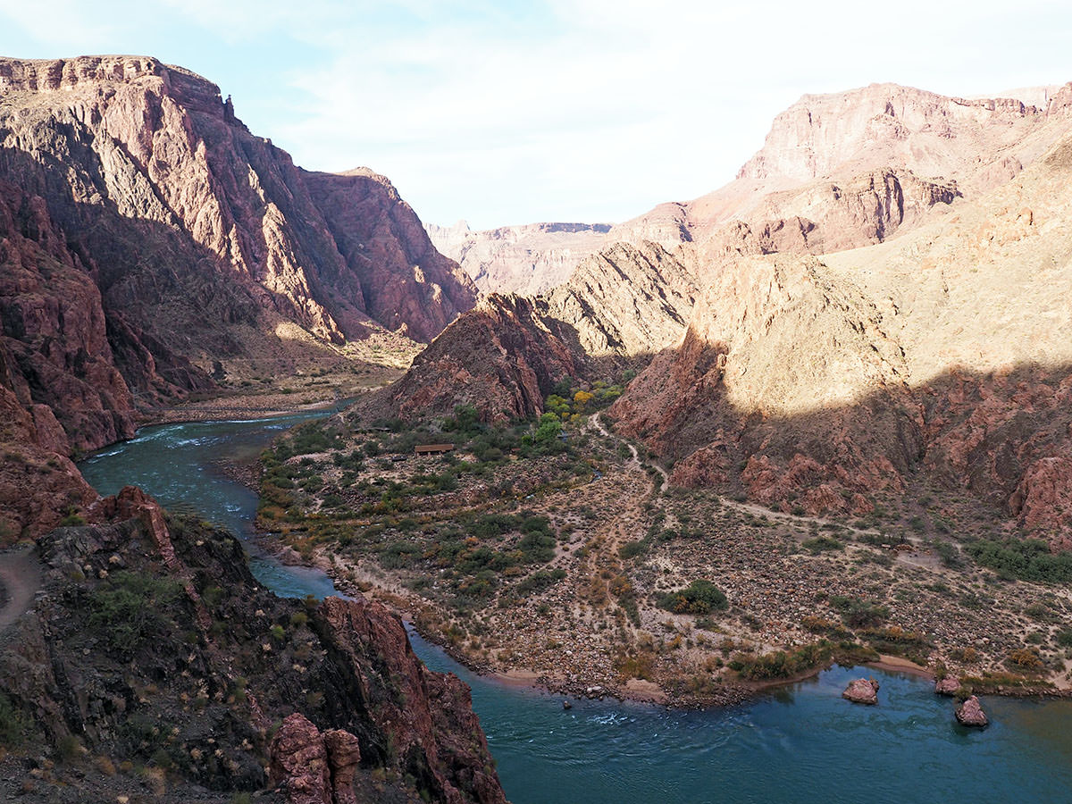 tageswanderung zum colorado river im grand canyon