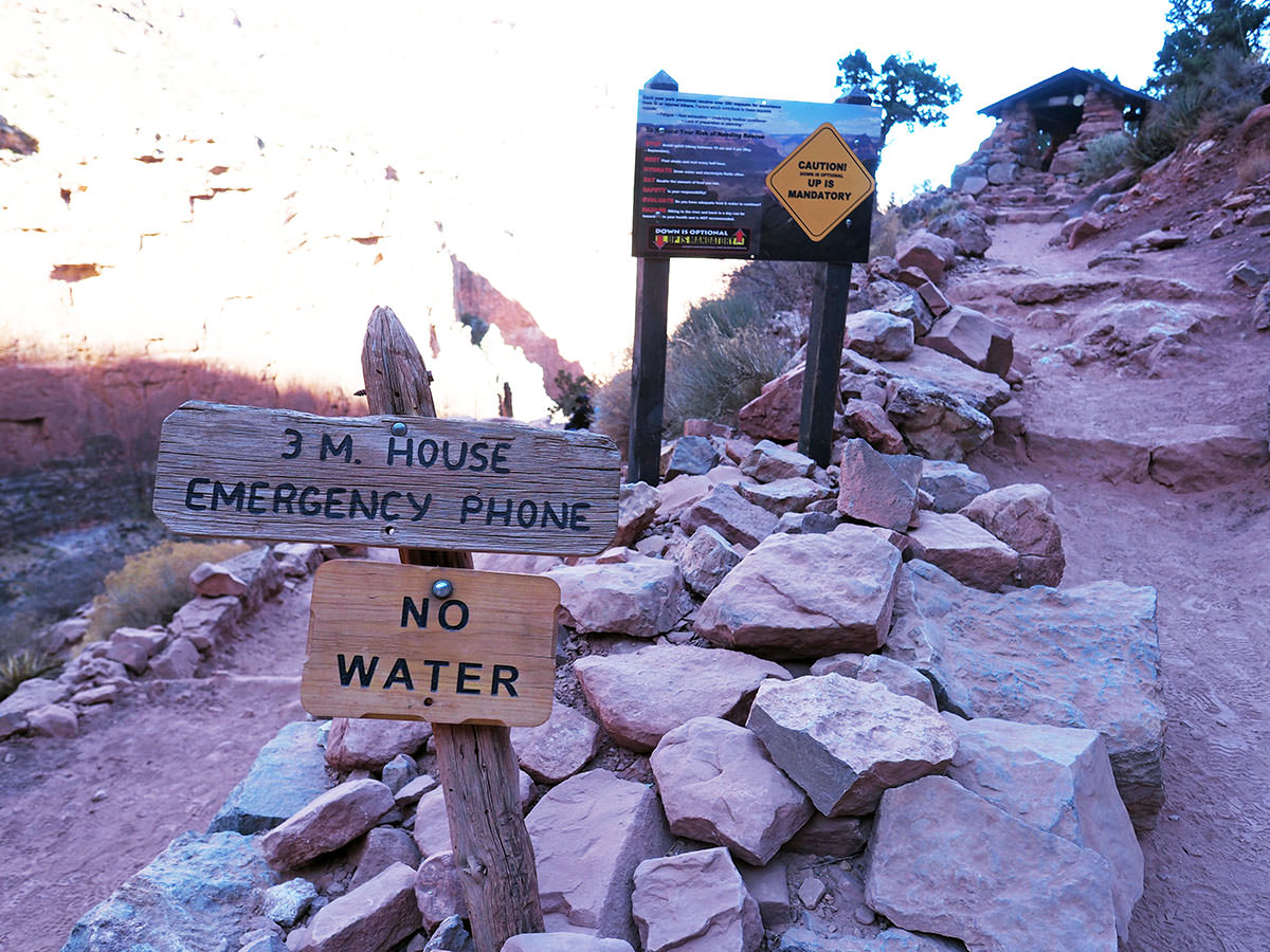 trinkwasser im grand canyon