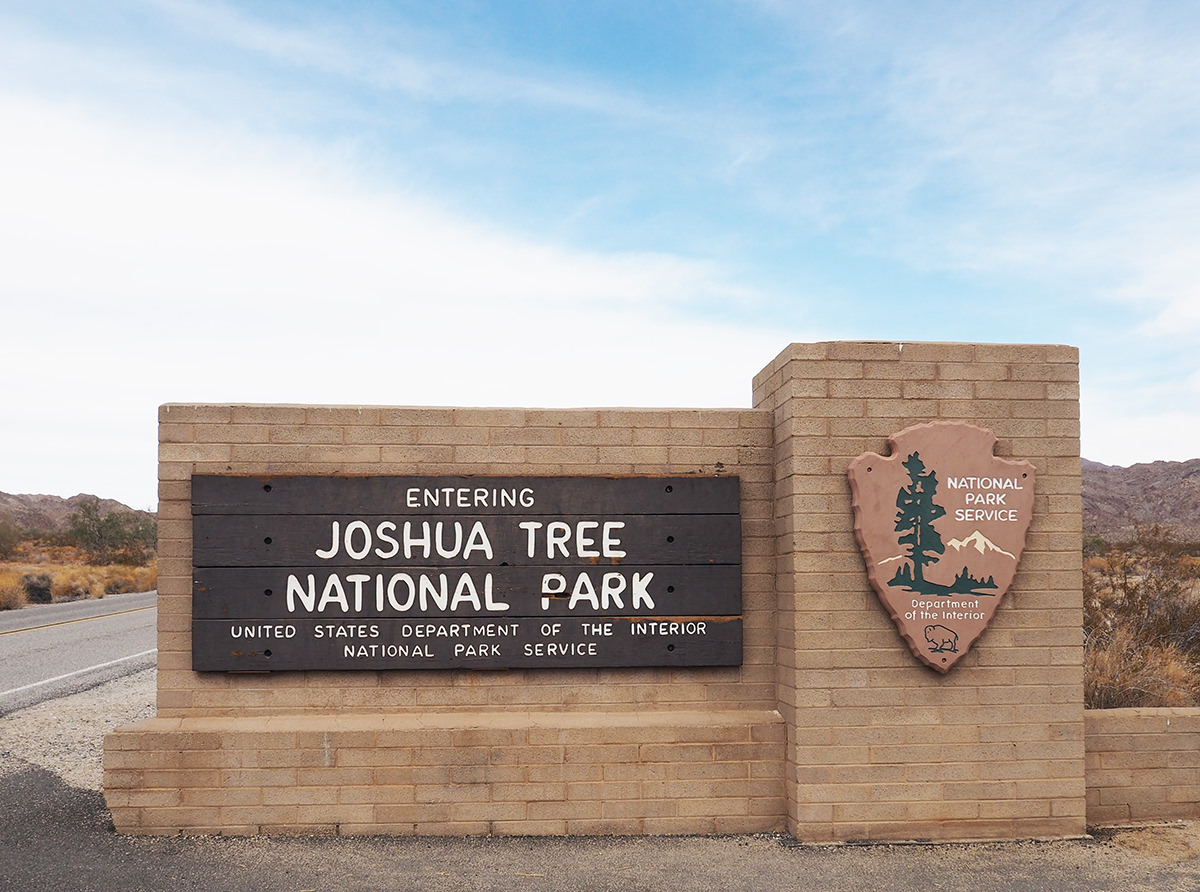 Eingang zum Joshua Tree Nationalpark