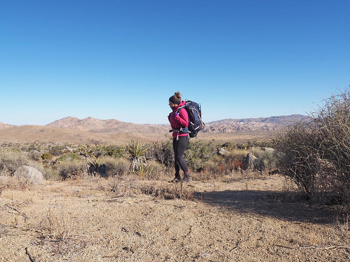 Wandern im Joshua Tree Nationalpark auf dem California Riding and Hiking Trail