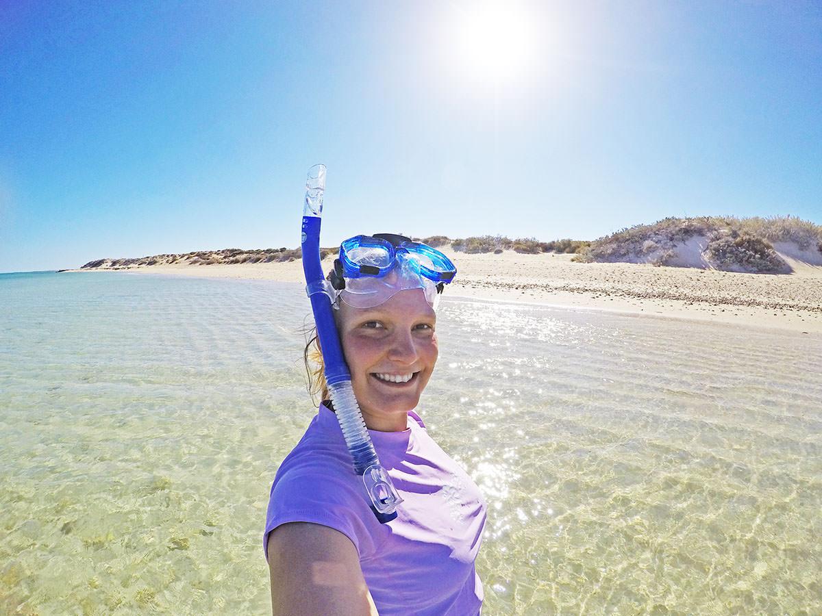 schnorcheln im cape range nationalpark in westaustralien