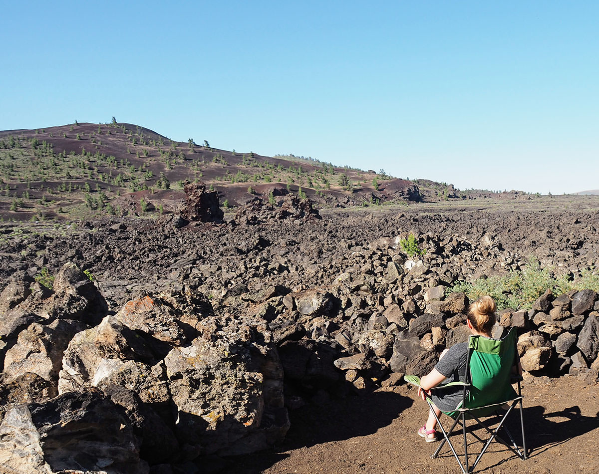 camping im craters of the moon national monument in idaho