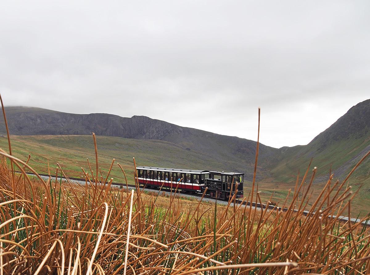 Mount Snowdon Zahnradbahn in Wales