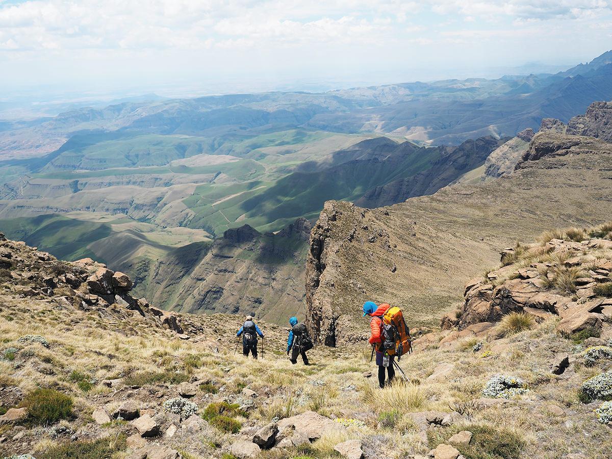 drakensberge trekking südafrika