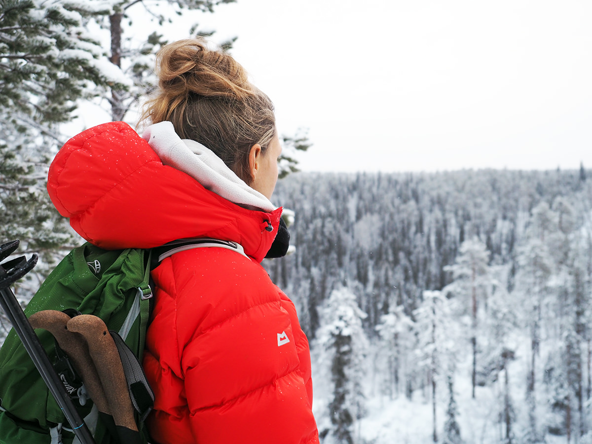 oulanka nationalpark wandern winter