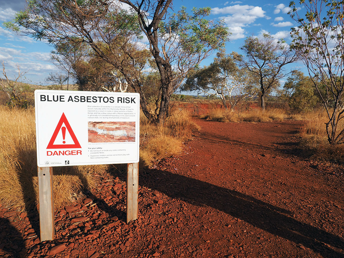 asbest karijini nationalpark