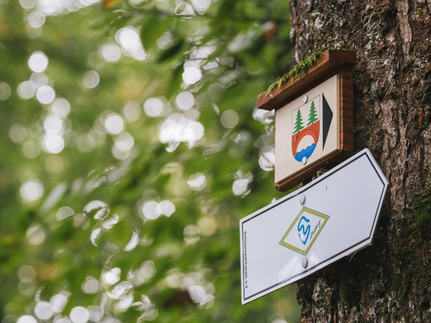 Wegweiser Albsteig Schwarzwald